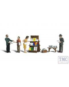 A2740 Woodland Scenics Painted Figures O Newsstand