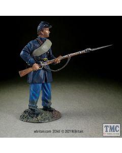 B31348 W.Britain Federal in Frock Coat Standing Defending No 2 American Civil War 1861-65