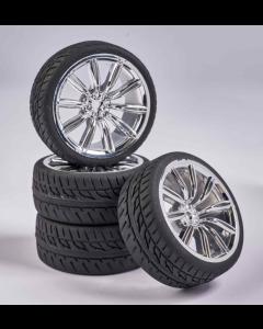 C900164 Carson RC1:10 Wheel Set M-Design (4) chrome