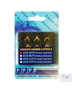 DCR-SCP.6 DCC Concepts OO/HO Scale Point Rodding Short Cranks (6) Pins (100) and Drill