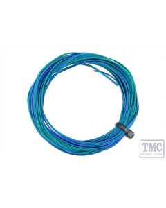 DCW-32GBT DCC Concepts TWIN Wire Decoder Stranded 6m (32g) Green/Blue