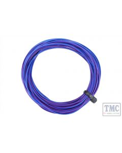 DCW-32PBT DCC Concepts TWIN Wire Decoder Stranded 6m (32g) Purple/Blue