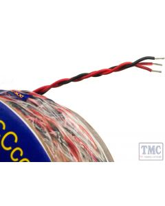 DCW-PW25 DCC Concepts Solenoid Connection Wire 3-Plait Red/Black/Red