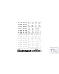 DT601 Woodland Scenics HO Scale Box Car Data - Roman Black & White