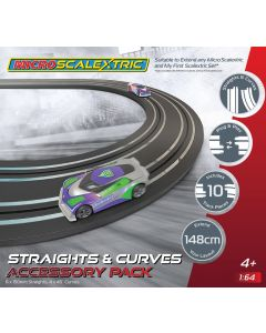 G8045 Scalextric Micro Scalextric Track Extension Pack - Straights & Curves