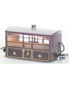 GR-560 Peco 009 Narrow Gauge Ffestiniog Railway 'Bug Box' 4 Wheel Observation Coach