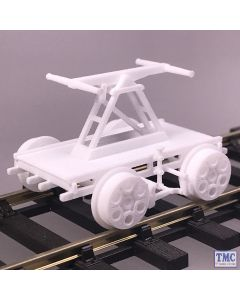 HANDCAR OO/HO Gauge TMC Weathered 3D Printed Hand Car (Pump Wagon)