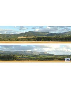 ID242 ID Backscenes OO Gauge Harvest Hills 3 Metres Long in 2 sections (38cm x 300cm)