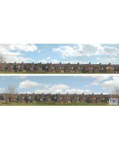 ID401 ID Backscenes OO Gauge Terrace Houses 3 Metres Long in 2 sections (38cm x 300cm)