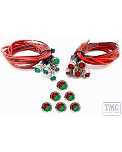 LED-GRCP DCC Concepts Grn Chrome Mount Common & Pre-Wired LEDs (6)