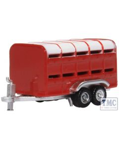 NFARM004 Oxford Diecast N Gauge Livestock Trailer Red