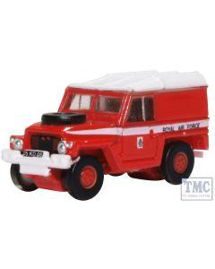 NLRL003 Oxford Diecast N Gauge Land Rover Lightweight RAF Red Arrows