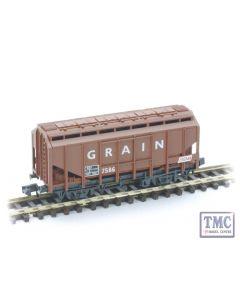 NR-66 Peco N Gauge Grain Wagon brown