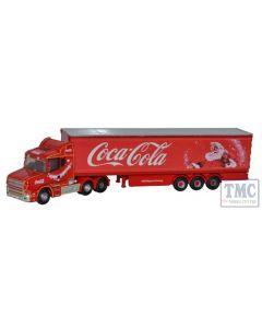 NTCAB007CC Oxford Diecast N Gauge Scania T Cab Box Trailer Coca Cola Xmas