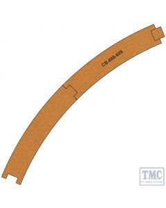 PCB-608-9 Proses 10 X Pre-Cut Cork Bed for R608-609 R3 Curve Tracks