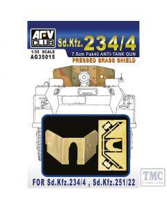 PKAG35015 AFV Club 1:35 Scale SdKfz 234/4 Pressed Brass Shield
