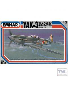 PKEM2003 Emhar 1:72 Scale Yak-3 Soviet WWII Fighter