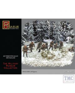 PKPG7272 Pegasus 1:72 Scale WWII Russian Infantry in Winter Dress Set 2