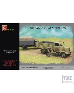 PKPG7610 Pegasus 1:72 Scale German Army Trucks (2 per box)