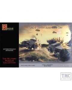 PKPG7672 Pegasus 1:72 Scale BA-6 Armoured Cars (2 per box)