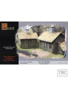 PKPG7702 Pegasus 1:72 Scale Russian Farm Houses (1 big 1 small)