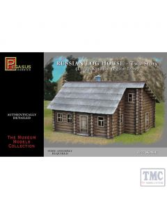 PKPG7704 Pegasus 1:72 Scale Russian Two-Storey Log House