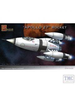 PKPG9101 Pegasus 1:72 Scale Apollo 27 Rocket Ship