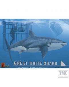 PKPG9501 Pegasus 1:18 Scale Great White Shark with Diver in Cage