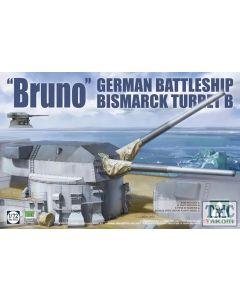 "PKTAK05012 Takom 1:72 Scale German Battleship Bismarck Turret B ""Bruno"""