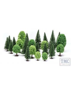 R7201 Skaledale OO Gauge Hobby' Mixed (Deciduous and Fir) Trees