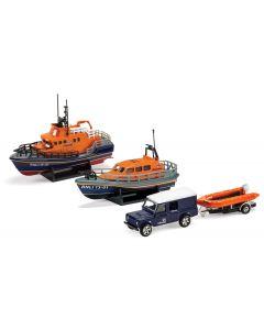 RNLI0001 Corgi RNLI Gift Set - Shannon Lifeboat, Severn Lifeboat and Flood Rescue Team