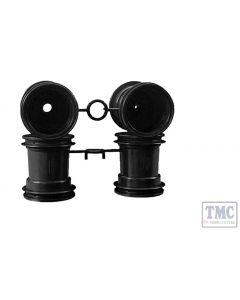 TA9335666 Tamiya Wheels (Black) for Lunch Box