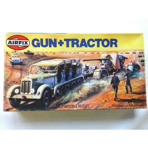 Airfix 1:76 Scale Gun and Tractor Kit (Pre owned)