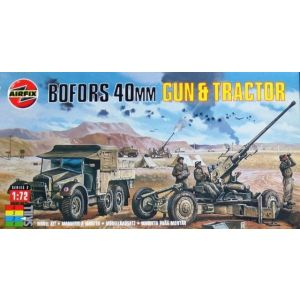 02314 Bofors 40mm Gun & Tractor 1:72 (Pre-owned)