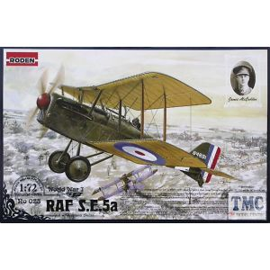 Roden RAF S.E.5a w/Hispano Suiza Model Kit No 023 1:72 (Pre owned)