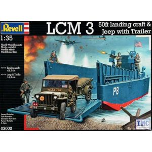 03000 Revell 1/35 LCM 3 / 50ft landing craft & Jeep with Trailer Kit