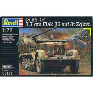 Revell 1:72 Sd. Kfz. 7/2 3,7 cm Flak 36 auf 8t Zgkw. Kit No 03127 (Pre owned)