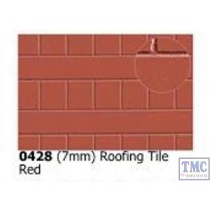 0428 Slaters 7mm Roofing Tile Red 300mm x 174mm Plastikard