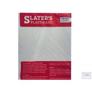 0437 Slaters 7mm Scale Corrugations White 300mm x 174mm Plastikard