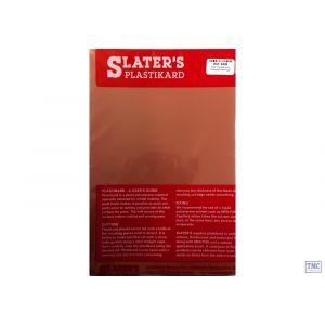 0438 Slaters 4mm Roof Tile (Scalloped Shell Type) Red 300mm x 174mm Plastikard