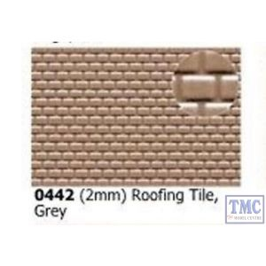 0442 Slaters 2mm Roofing Tile Grey 300mm x 174mm Plastikard