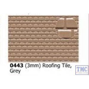 0443 Slaters 3mm Roofing Tile Grey 300mm x 174mm Plastikard
