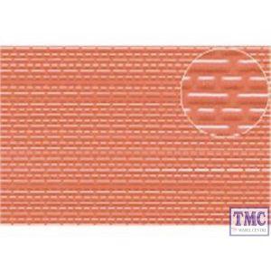 0445 Slaters 3mm Brick Red 1:100 scale 300mm x 174mm Plastikard
