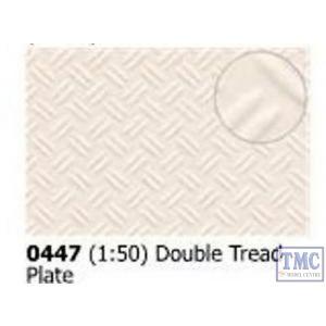 0447 Slaters Double Treadplate 1:50 scale 300mm x 174mm Plastikard