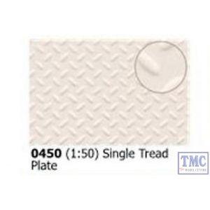 0450 Slaters Single Treadplate 1:50 scale 300mm x 174mm Plastikard