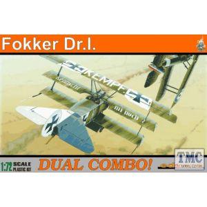 Eduard 1:72 Fokker Dr.I.  Dual Combo No 7017 (Pre owned)