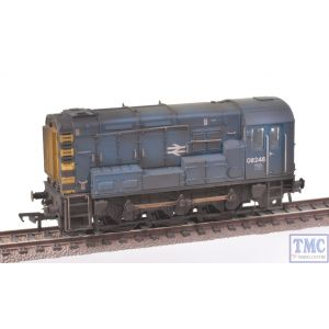 Bachmann OO Gauge Class 08 08185 BR Blue Wasp Stripes Renumbered & Heavily Weathered by TMC