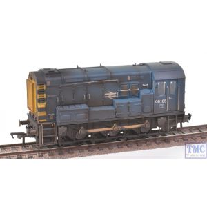 Bachmann OO Gauge Class 08 08246 BR Blue Wasp Stripes Renumbered & Heavily Weathered by TMC