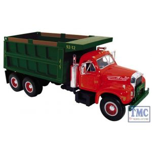 10-3962 First Gear 1:34 SCALE Mack B Model Dump Truck Red & Green