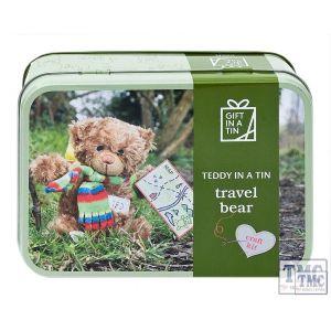 Teddy Bear in a Tin Travel Bear
